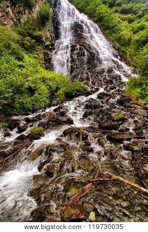 Horsetail Falls Near Valdez