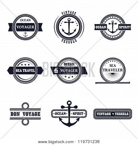 Set Of Marine Labels