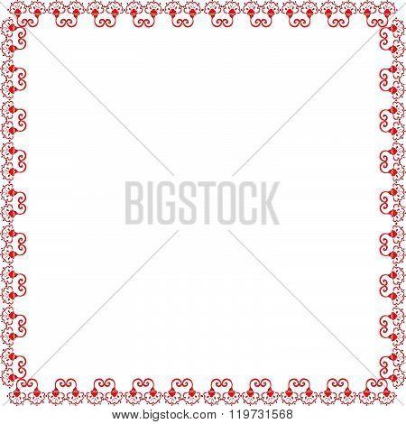 Illustration Of Red Floral Frame