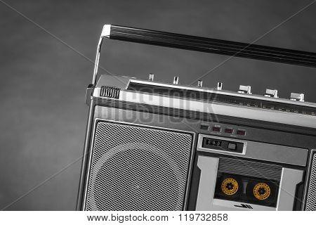 1980S Silver Radio Boom Box