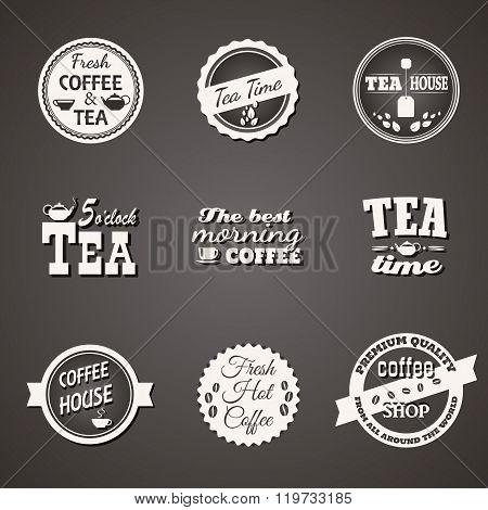 Set Of Tea And Coffee Labels