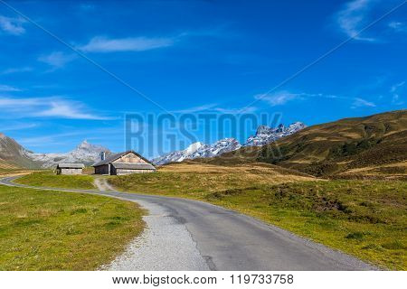 Stunning View Of Titlis And Wendestock In Alpen Village