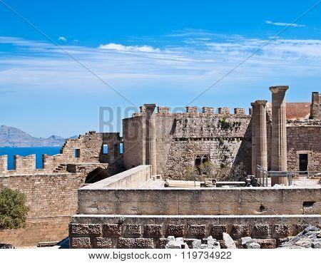 Acropolis of Lindos, Rhodes island, Greece