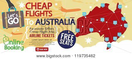 Cheap Flight To Australia 1500X600 Banner.
