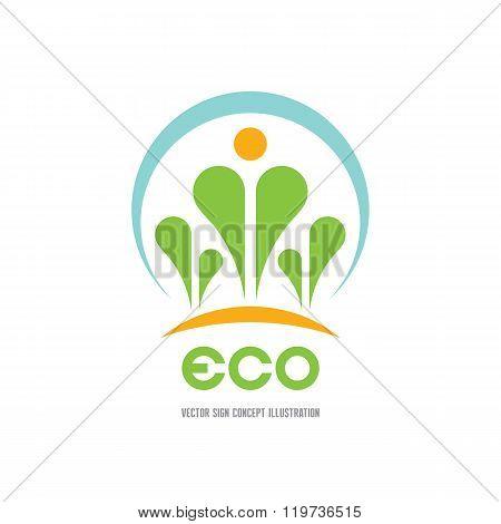 Eco - vector logo concept illustration. Ecology logo. Leafs logo. Bio logo. Floriculture logo.