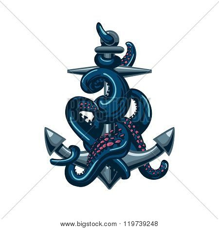 Octopus with an anchor