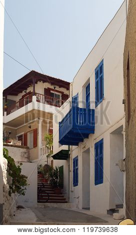 Typical greek alleyway
