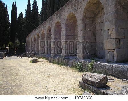 Ancient baths Asclepion in Kos
