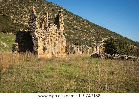Ruins Of An Ancient Monastery At Stimfalia, Peloponnese, Greece