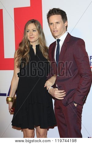 LOS ANGELES - FEB 26:  Hannah Bagshawe, Eddie Redmayne at the The Film is GREAT Reception Honoring British 2016 Oscar Nominees at the Fig and Olive on February 26, 2016 in West Hollywood, CA