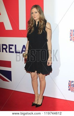 LOS ANGELES - FEB 26:  Hannah Bagshawe at the The Film is GREAT Reception Honoring British 2016 Oscar Nominees at the Fig and Olive on February 26, 2016 in West Hollywood, CA