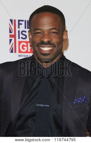 LOS ANGELES - FEB 26:  Chike Okonkwo at the The Film is GREAT Reception Honoring British 2016 Oscar Nominees at the Fig and Olive on February 26, 2016 in West Hollywood, CA