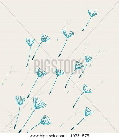 Vector dandelion fluff
