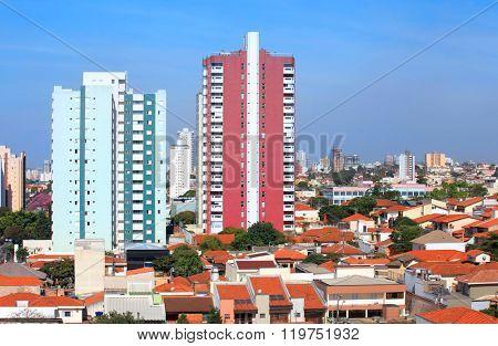 Sao Caetano du sol city landscape in Brazil