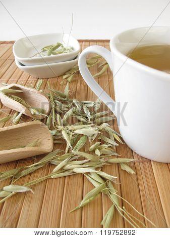 Green oats tea