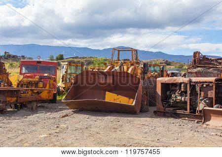 Vintage Old Bulldozers