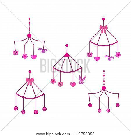 set of rattles in the isolated