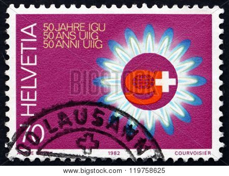 Postage Stamp Switzerland 1982 International Gas Union