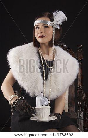 Girl in gatsby style