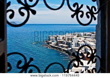 View Of Mandraki Village On Nisyros Island, Greece, Europe