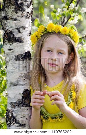 Girl In Dandelion Crown