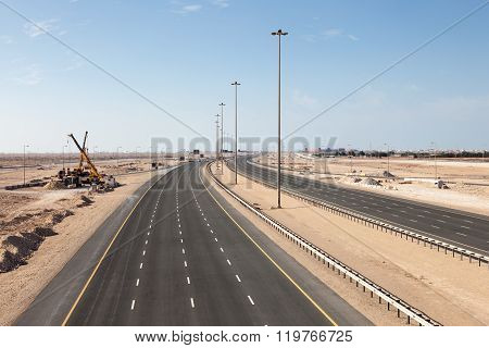 Highway Number One In Qatar