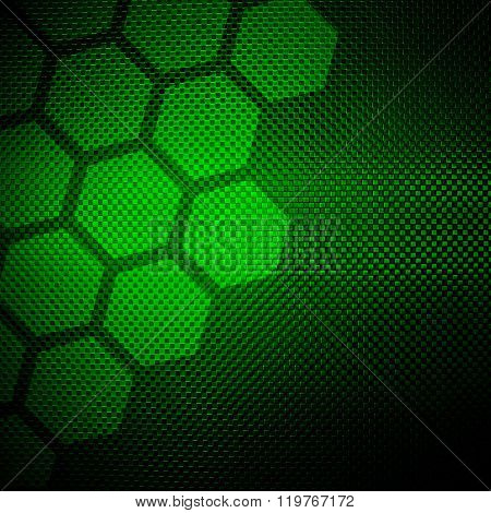 green metal with cellular design background