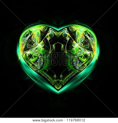 Abstract image. Mysterious psychedelic relaxation heart.
