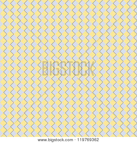 Seamless Checkered Chess Pattern In Yellow And Blue Colors