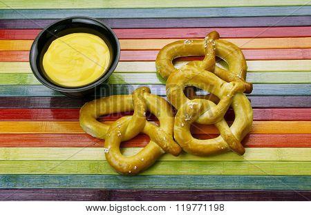 Pretzel With Cheddar Cheese