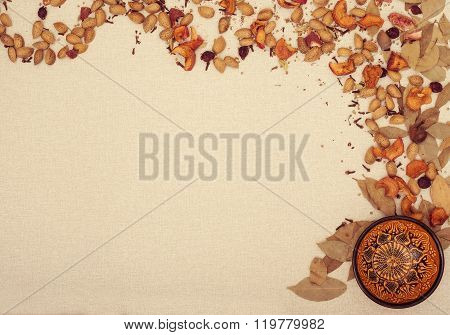 Decorative Frame With Cup And Spices