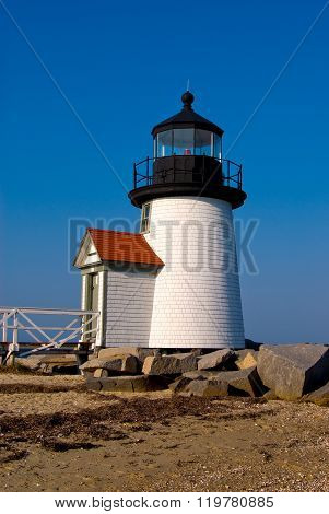 Brant Point Lighthouse On Nantucket Island, New England