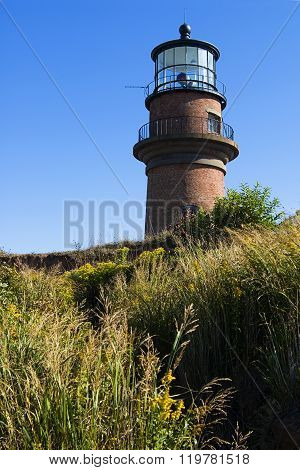 Gay Head (Aquinnah) Lighthouse On Martha's Vineyard Island In New England