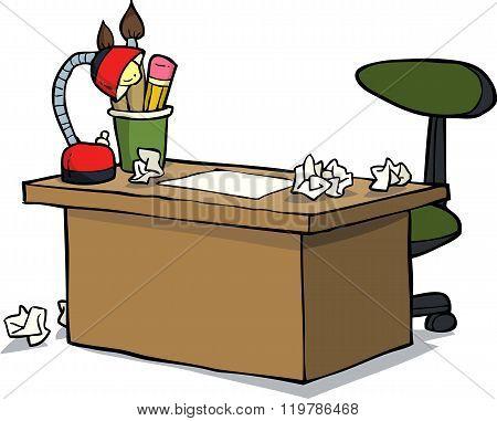 Cartoon Designer Table