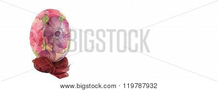 Decoupage Easter Egg Isolated Banner