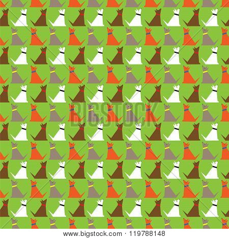 Dogs pattern. Vector background.