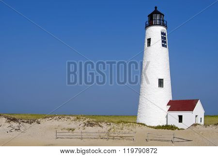 Nantuck Island Lighthouse In Massachusetts