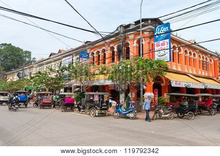 French Colonial Architecture In Siem Reap