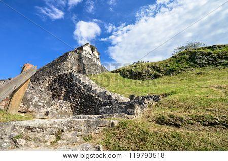 Xunantunich Archaeological Site Of Mayan Civilization In Western Belize