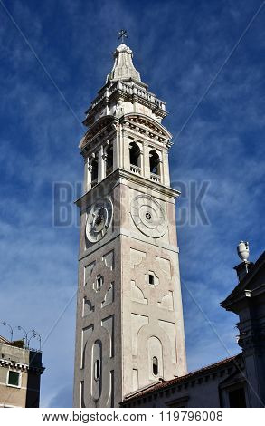 Sant Maria Formosa Beautiful Belfry In Venice