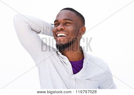 Laughing Young African American Guy