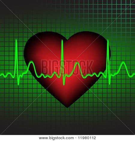 Heartbeat, vector illustration, eps10