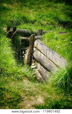 Wooden Old Trench