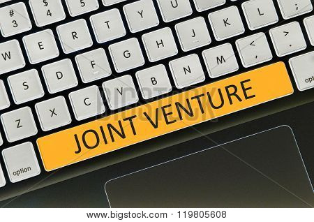 Keyboard Space Bar Button Written Word Joint Venture