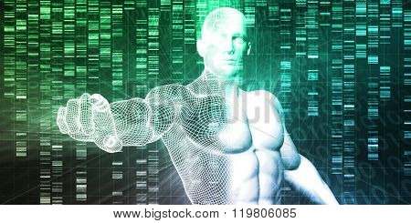 Genetic Modification as a Science Concept Industry Art