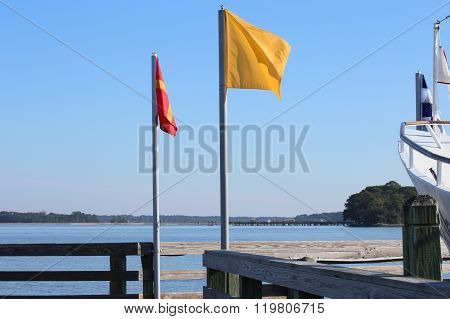 The Flags on the Dock