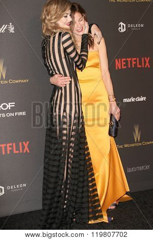 Jamie King and Michelle Monaghan arrive at the Weinstein Company and Netflix 2016 Golden Globes After Party on Sunday, January 10, 2016 at the Beverly Hilton Hotel in Beverly Hills, CA.