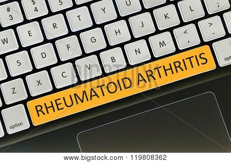Keyboard Space Bar Button Written Word Rheumatoid Arthritis