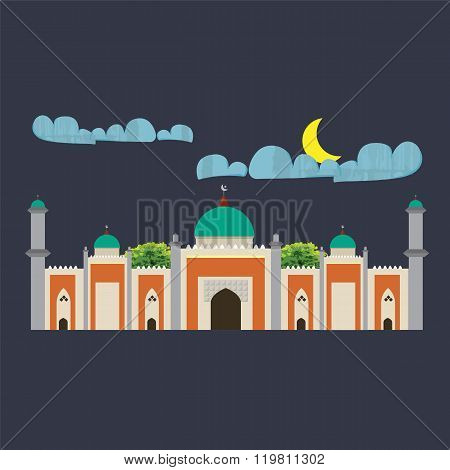 Mosque with four minarets