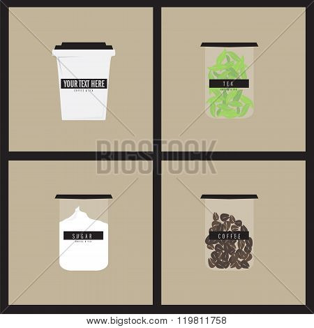 Vector menu of soft drinks. Soft drink illustrations set. Hand drawn soft drink offee